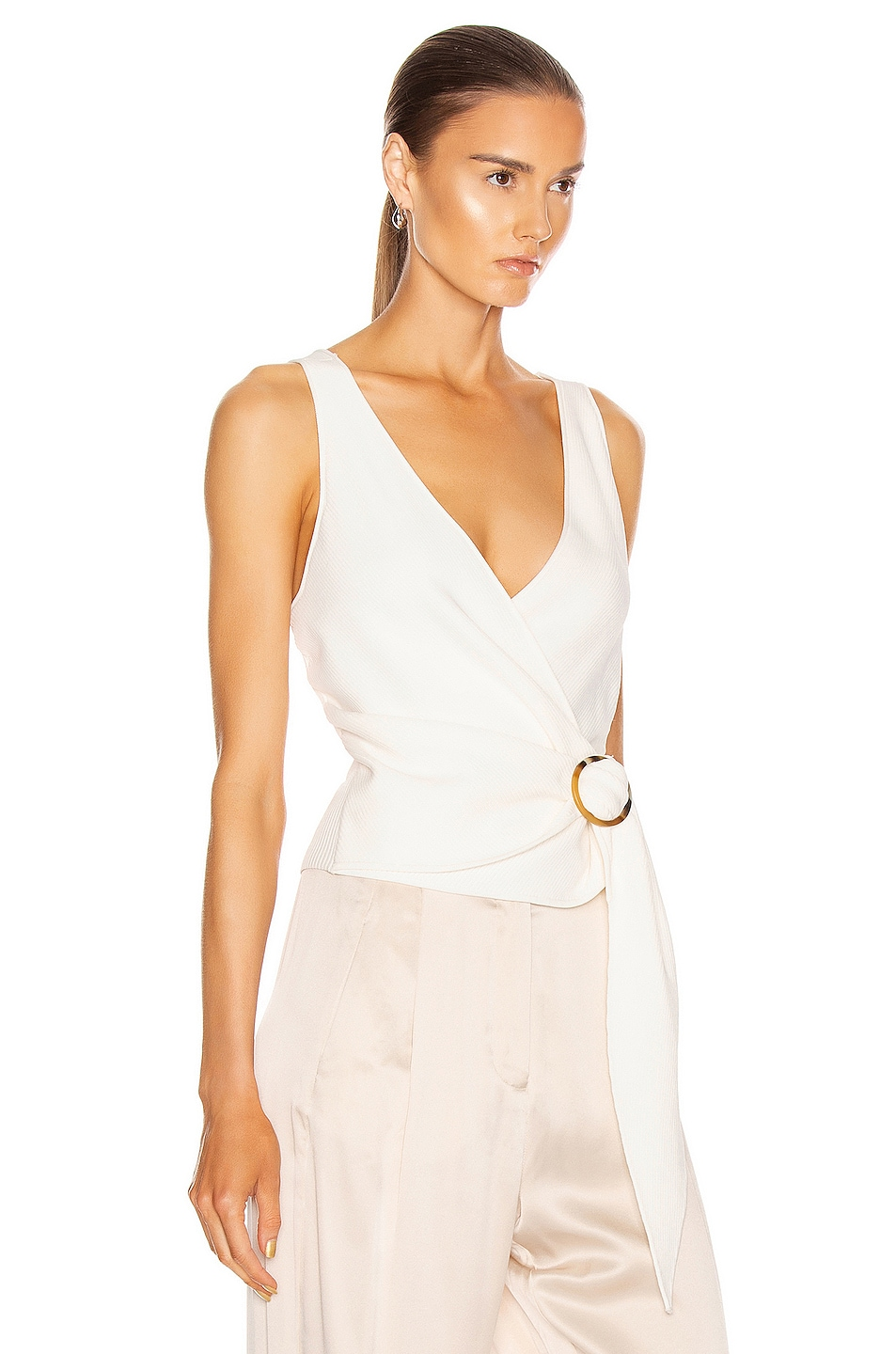 Image 2 of JONATHAN SIMKHAI Callie Knit Top in White
