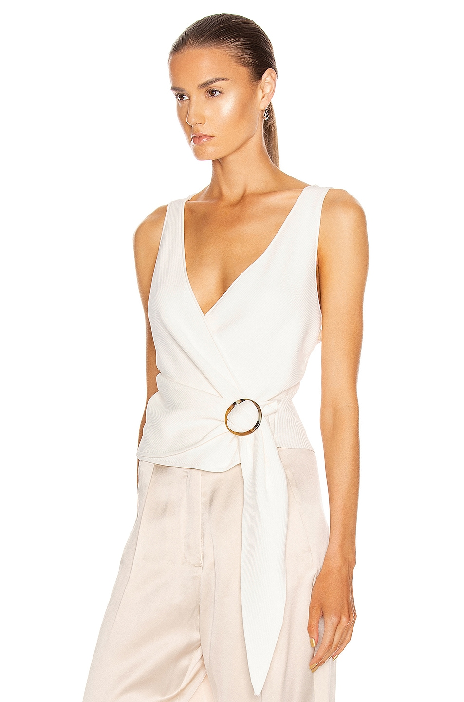 Image 3 of JONATHAN SIMKHAI Callie Knit Top in White