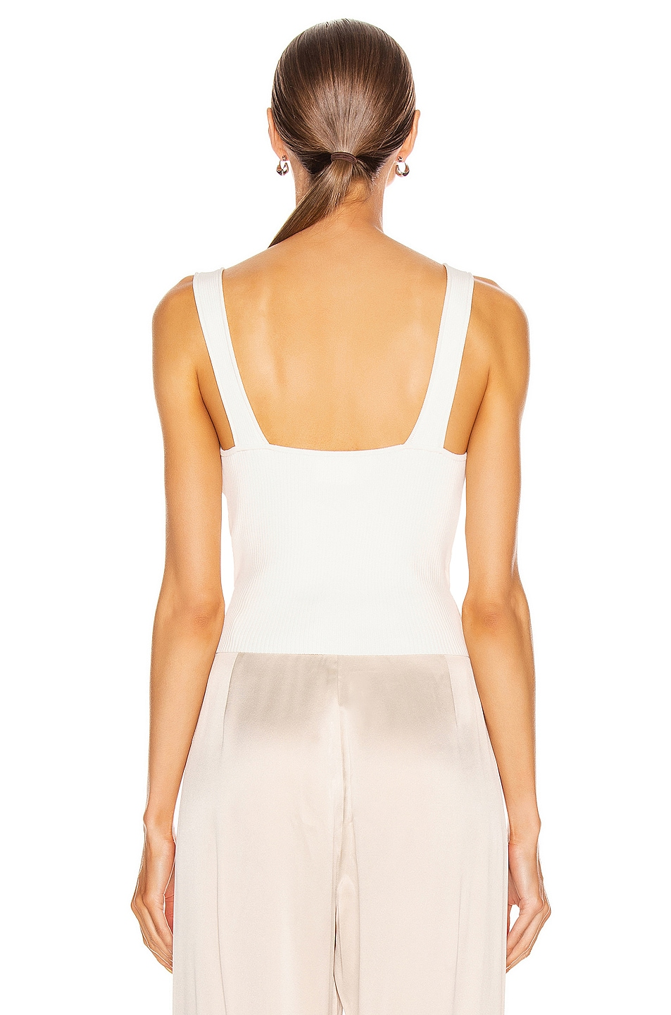 Image 4 of JONATHAN SIMKHAI Callie Knit Top in White