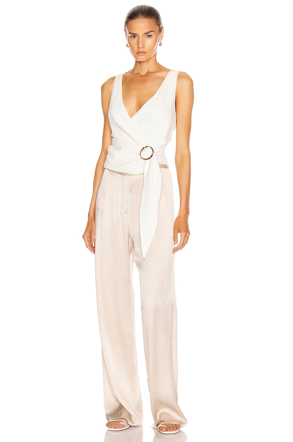 Image 5 of JONATHAN SIMKHAI Callie Knit Top in White