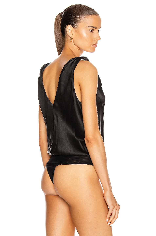 Image 4 of JONATHAN SIMKHAI Miriam Bodysuit in Black