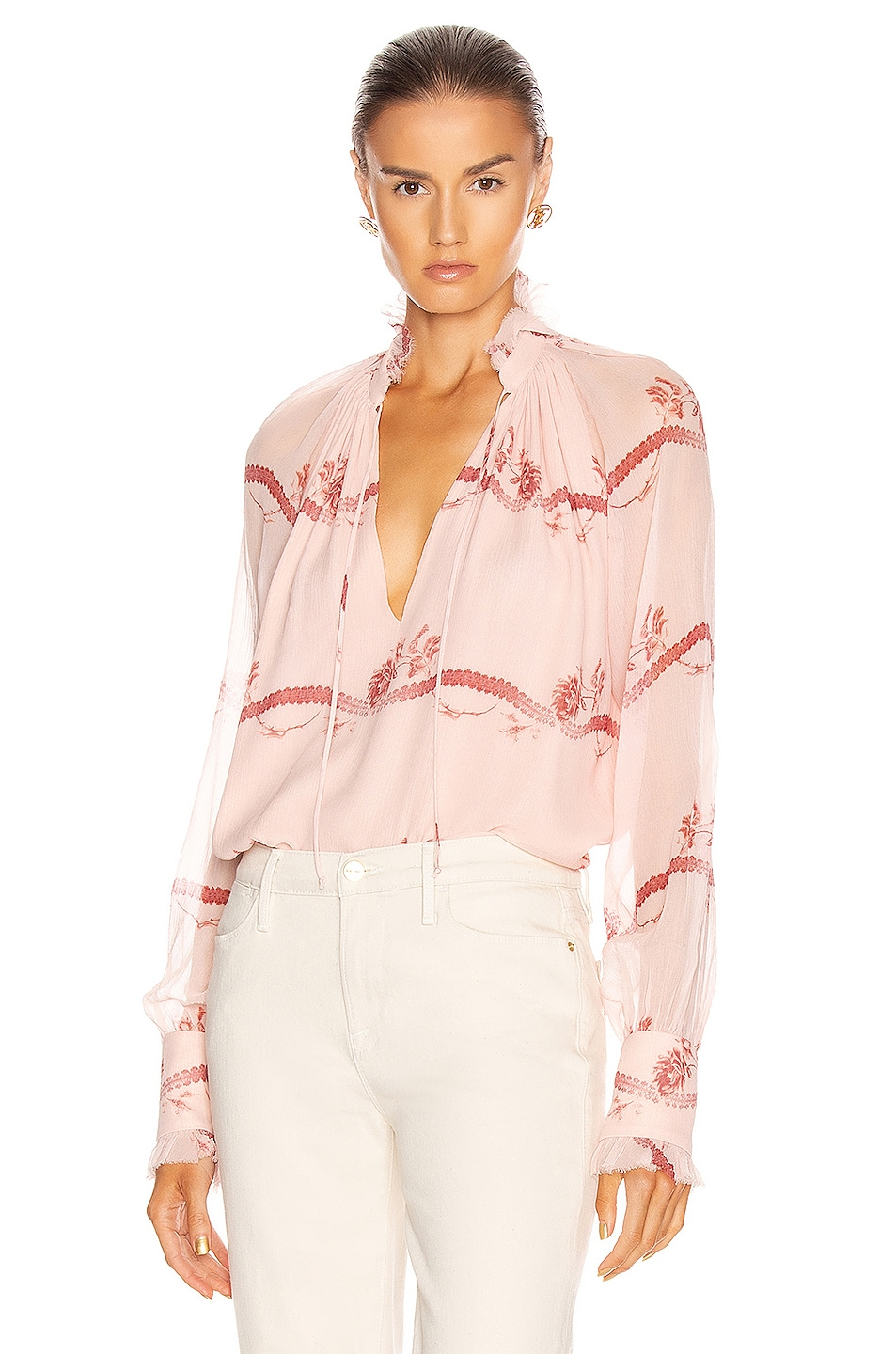 Image 1 of JONATHAN SIMKHAI Monica Rose Top in Blush