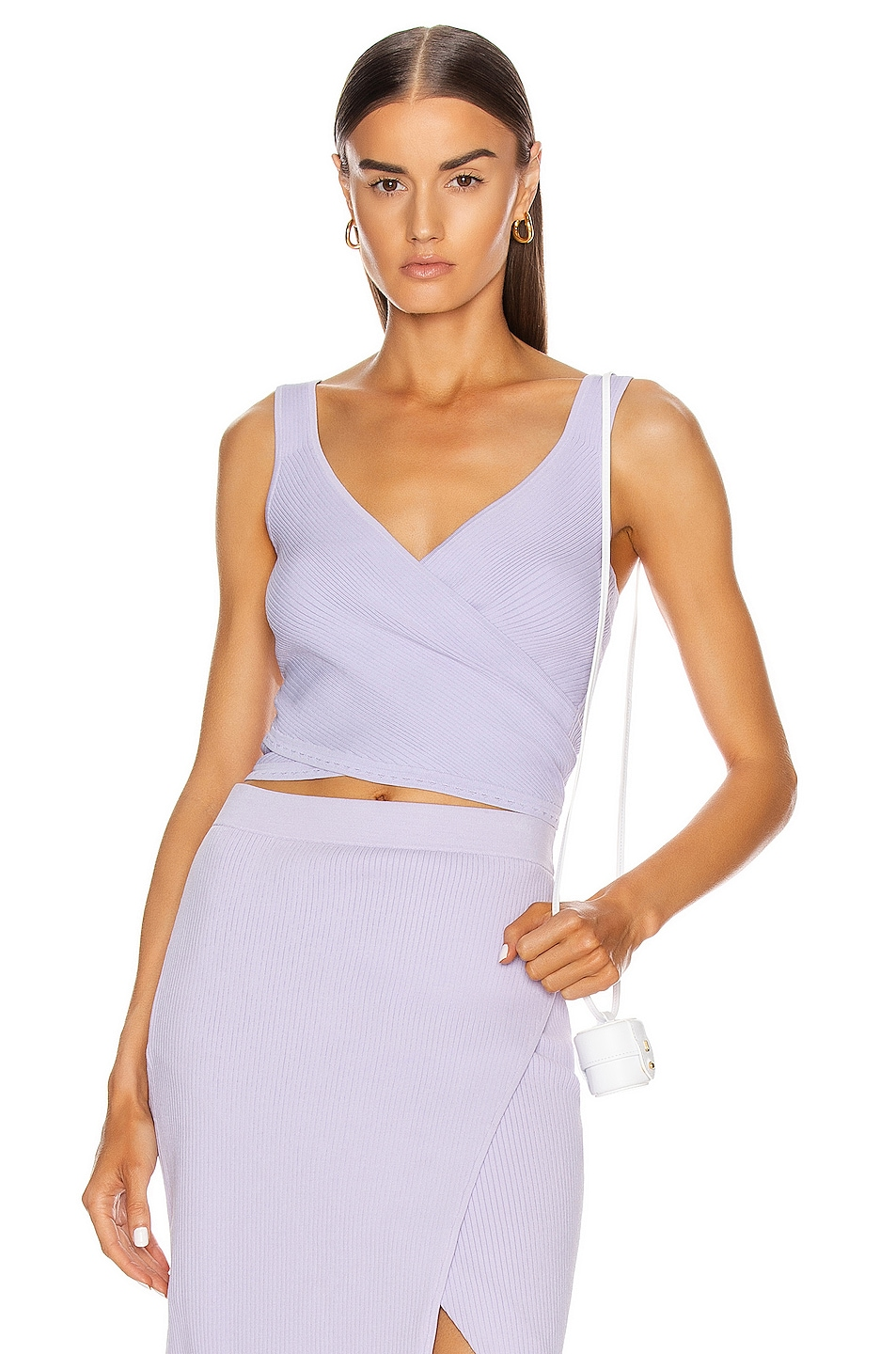 Image 1 of JONATHAN SIMKHAI Jada Knit Top in Electric Lilac