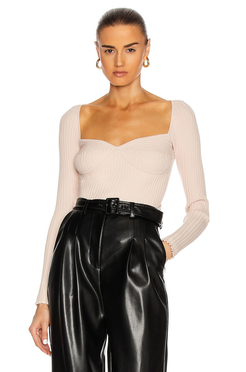 Image 1 of JONATHAN SIMKHAI Sammy Bustier Top in Champagne