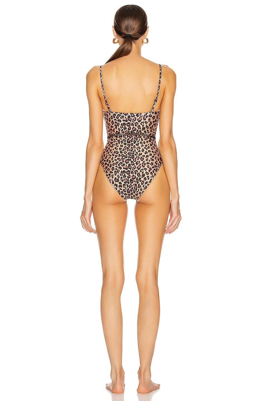 Image 3 of JONATHAN SIMKHAI Bustier Swimsuit in Leopard Print