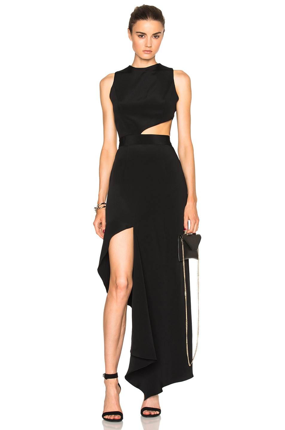 Image 1 of Juan Carlos Obando FWRD Exclusive Cut Out Dress in Onyx Black
