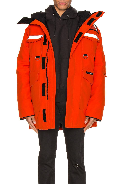 Image 1 of Junya Watanabe x Canada Goose Jacket in Orange