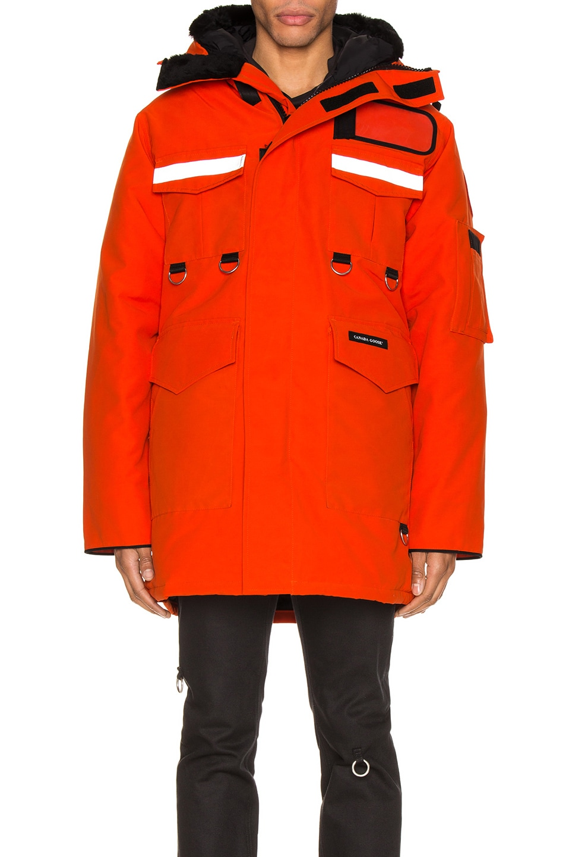 Image 2 of Junya Watanabe x Canada Goose Jacket in Orange