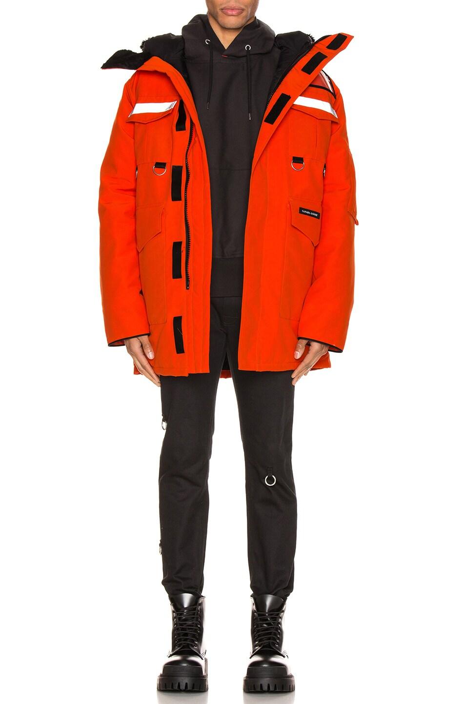 Image 6 of Junya Watanabe x Canada Goose Jacket in Orange