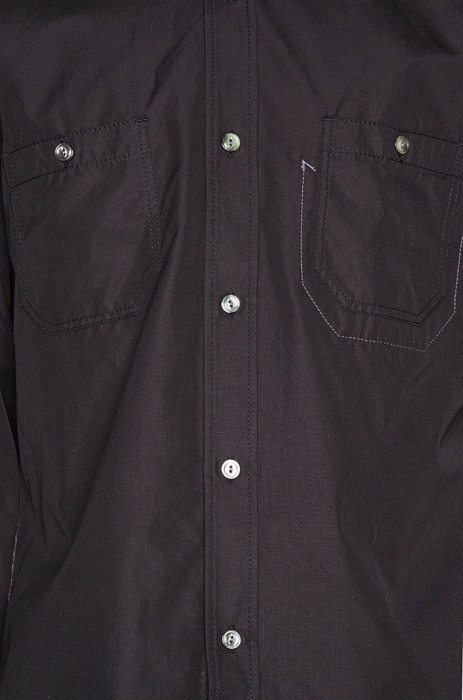 Image 6 of Junya Watanabe Long Sleeve Shirt in Black & Grey & Brown & Black