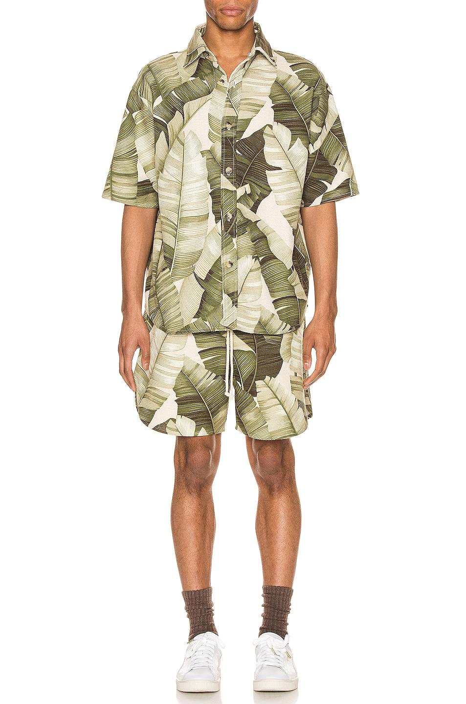 Image 4 of Jungle Kailo Short Sleeve Shirt in Cream Banana Leaf