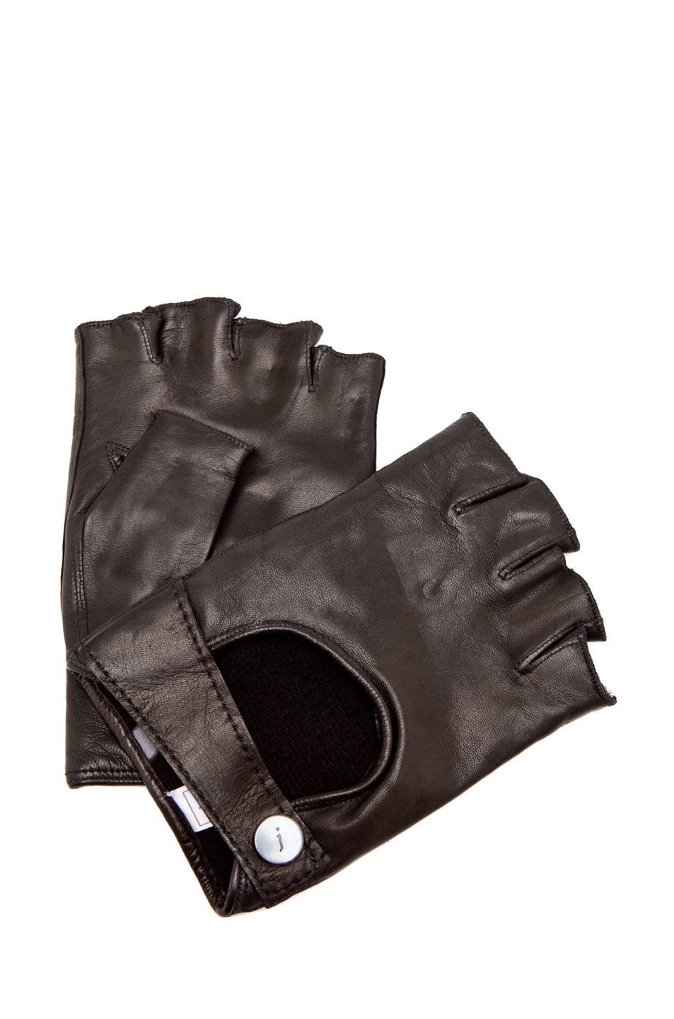 Fingerless leather gloves mens accessories - Image 1 Of John Varvatos Runway Fingerless Leather Gloves In Black