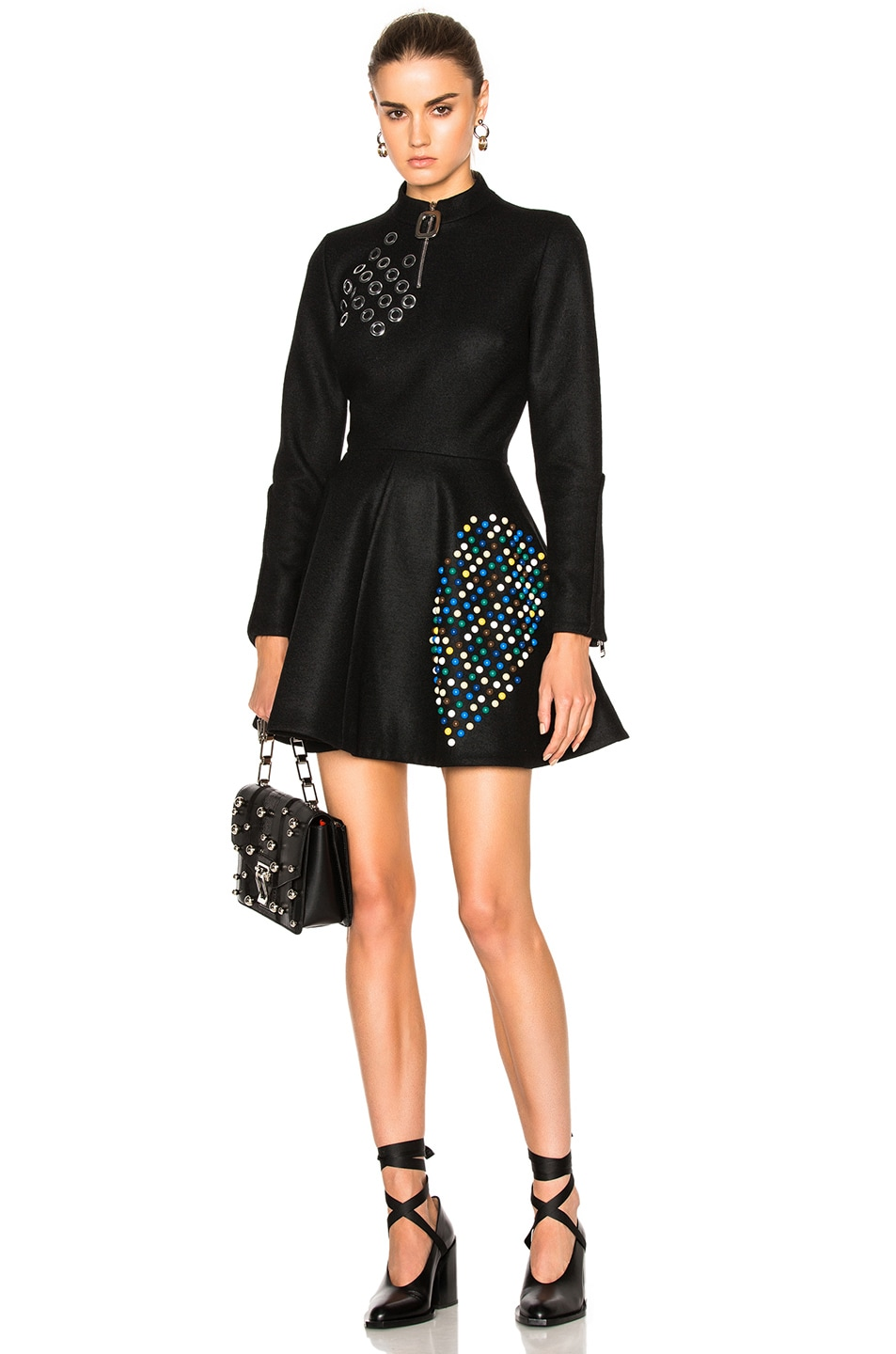 Image 1 of JW Anderson Skater Dress in Black