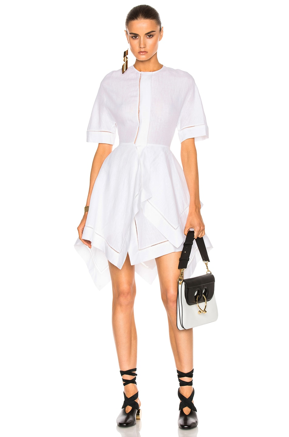 Image 1 of J.W. Anderson Handkerchief Dress in White