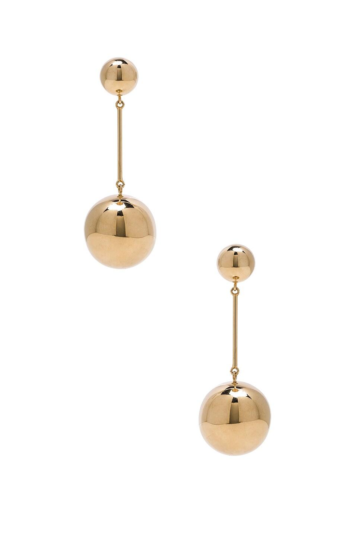 Image 1 of JW Anderson Spheres Drop Earrings in Gold