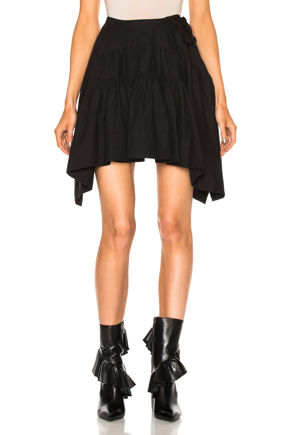 Image 1 of J.W. Anderson Back To Front Drape Skirt in Black