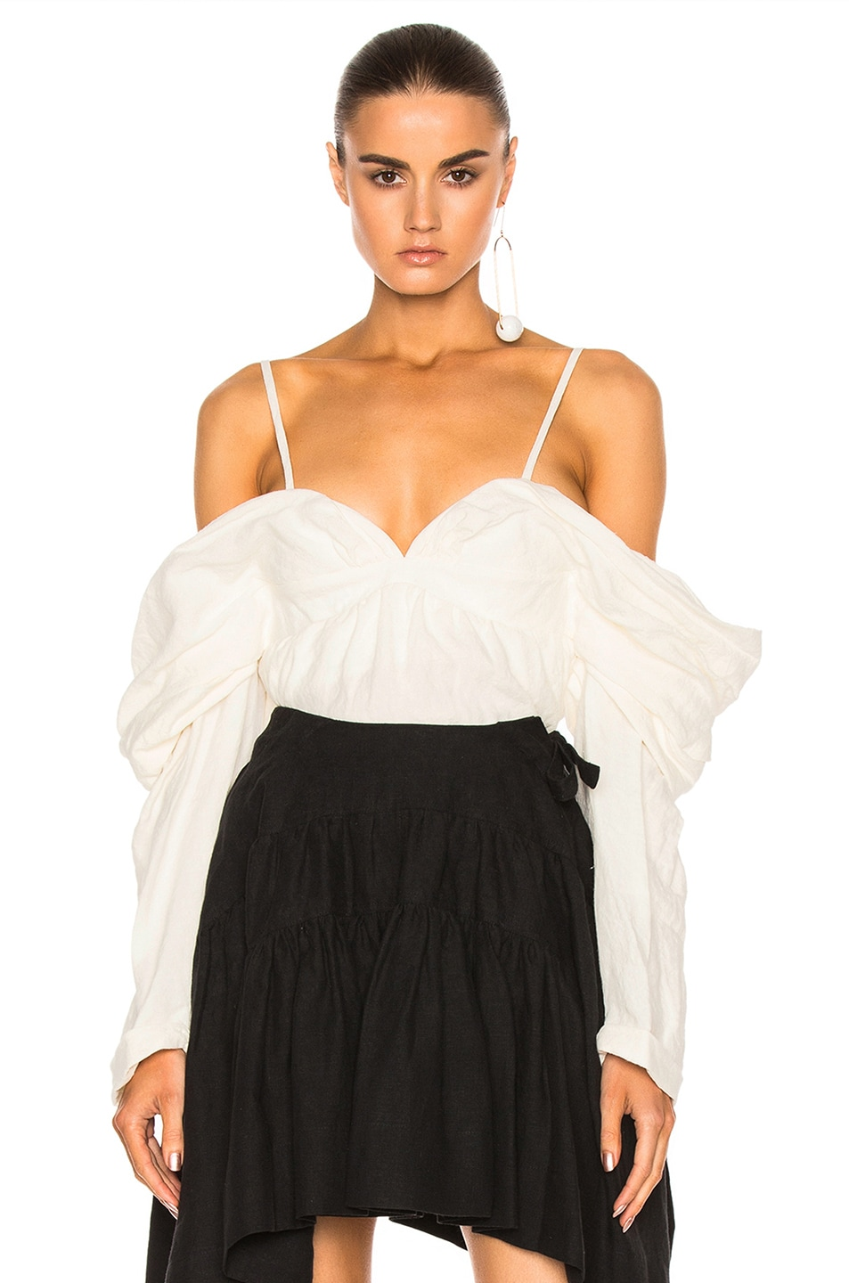 Image 1 of JW Anderson Off The Shoulder Top in Off White