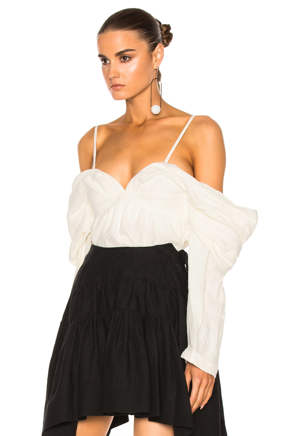 Image 2 of J.W. Anderson Off The Shoulder Top in Off White