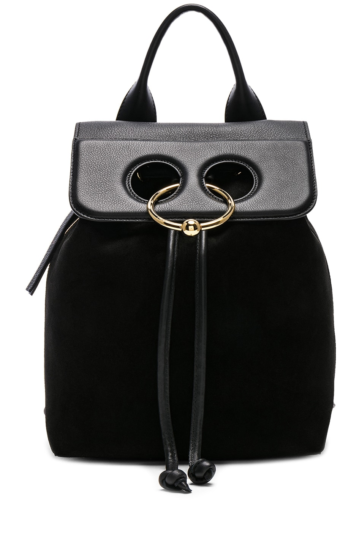 Image 1 of JW Anderson Mini Pierce Backpack in Black