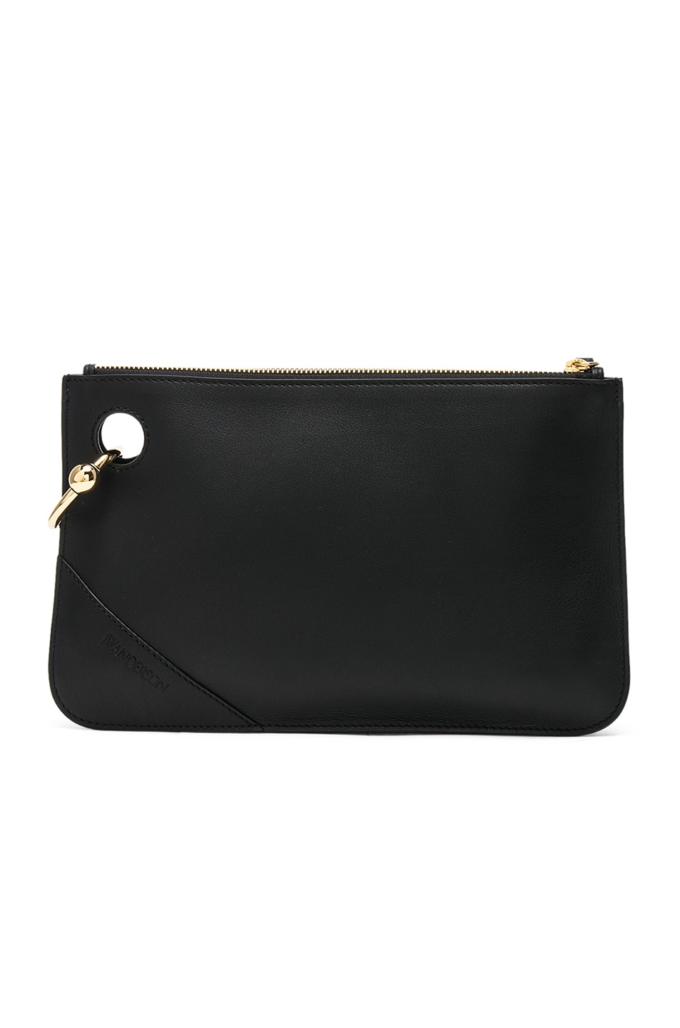 Image 1 of JW Anderson Pierce Clutch in Black