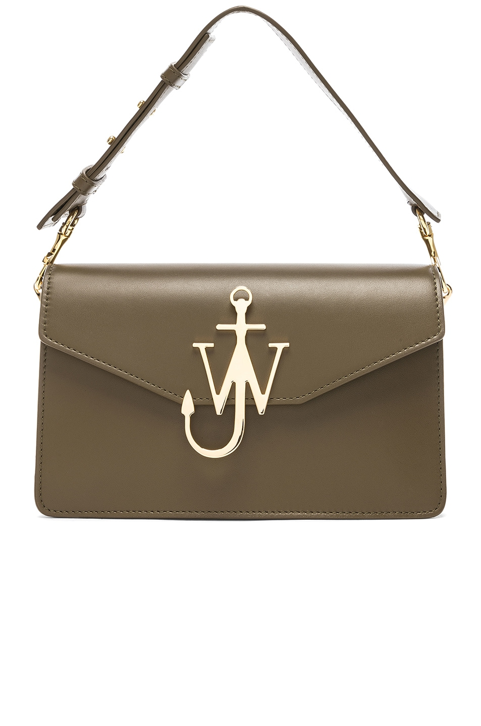 Image 1 of JW Anderson Logo Purse in Military Green