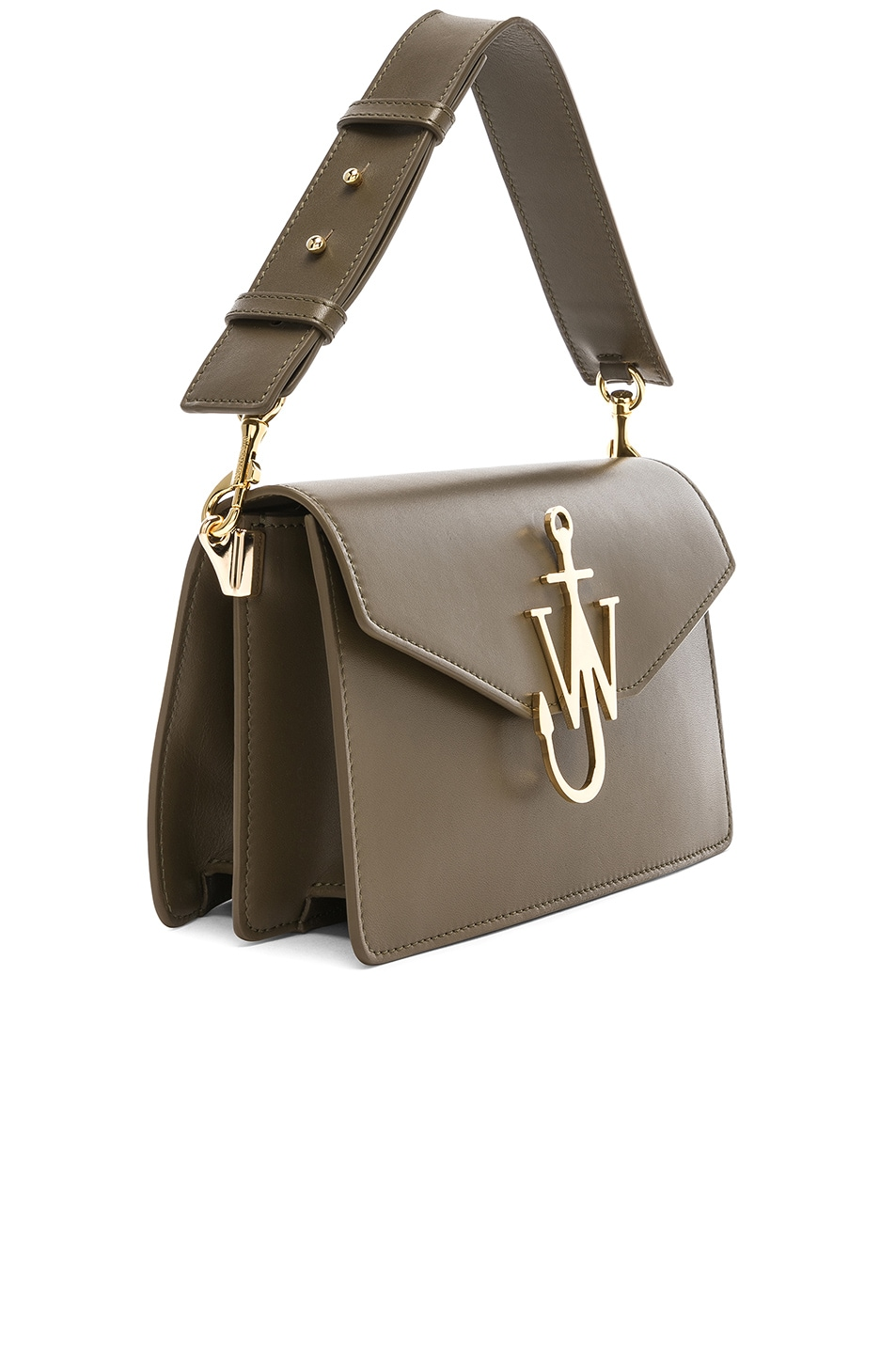 Image 4 of JW Anderson Logo Purse in Military Green