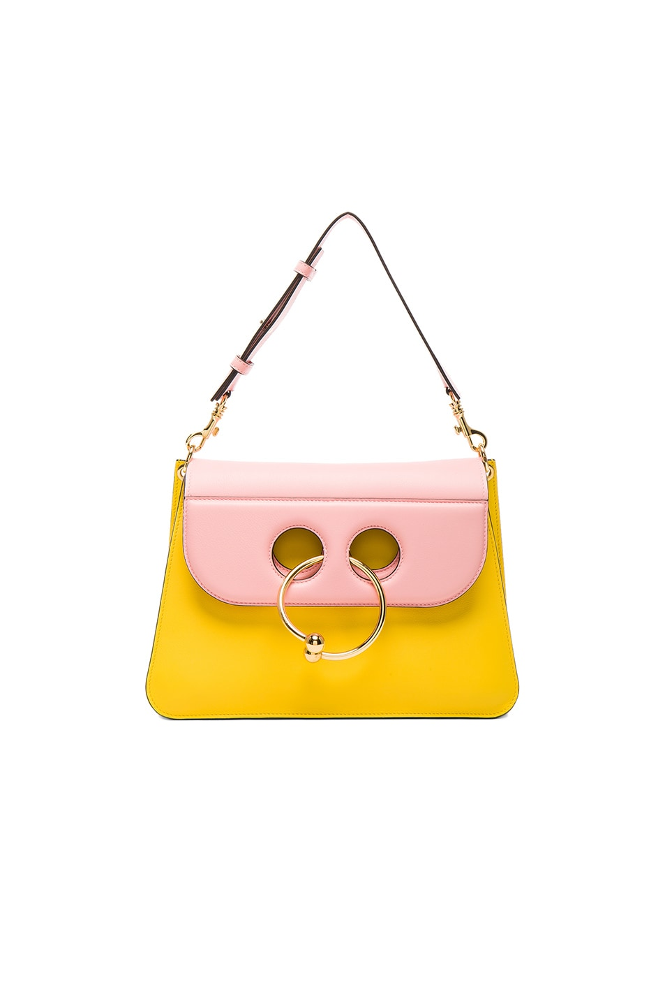 Image 1 of J.W. Anderson Medium Pierce Bag in Yellow & Bubble Gum