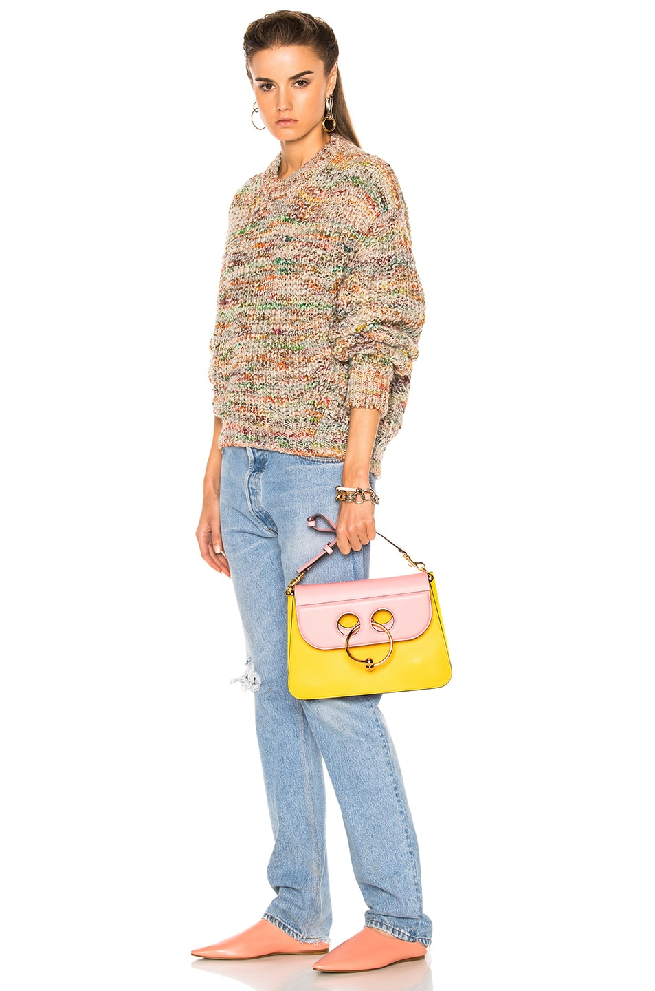 Image 5 of J.W. Anderson Medium Pierce Bag in Yellow & Bubble Gum