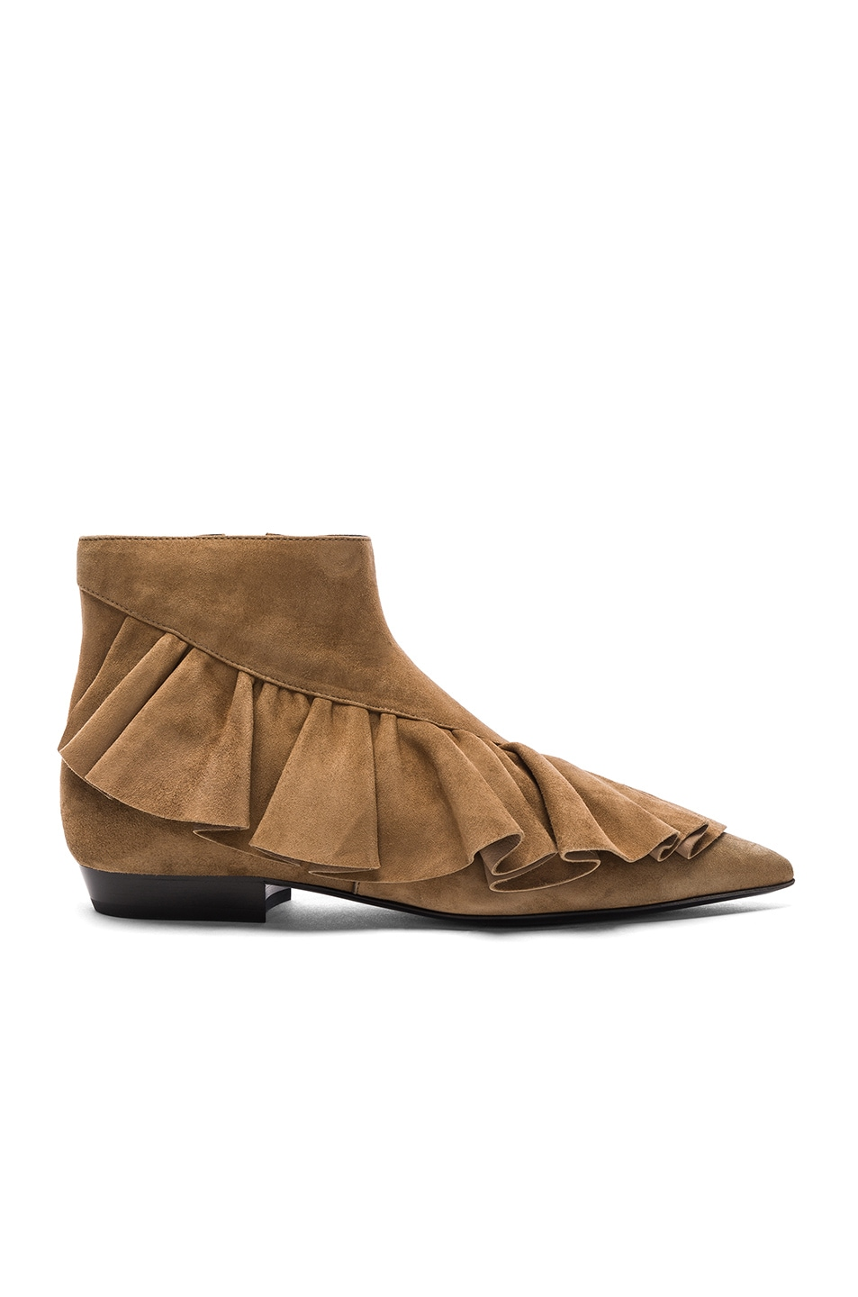 Image 1 of JW Anderson Suede Ruffle Booties in Desert