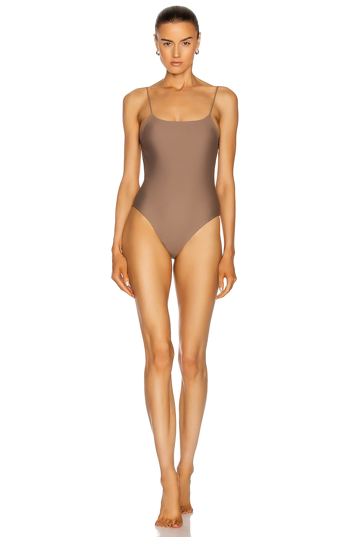 Image 1 of JADE SWIM Trophy One Piece Swimsuit in Nude
