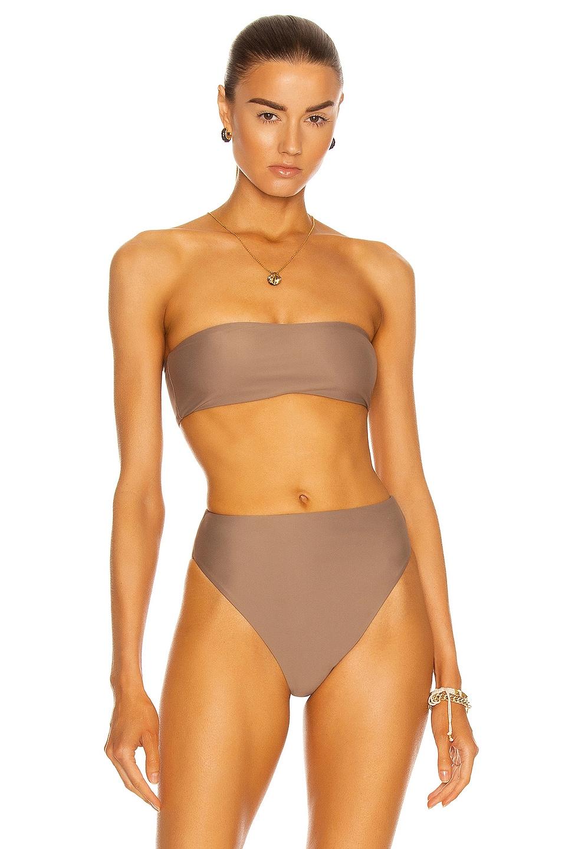 Image 1 of JADE SWIM All Around Bandeau Bikini Top in Nude