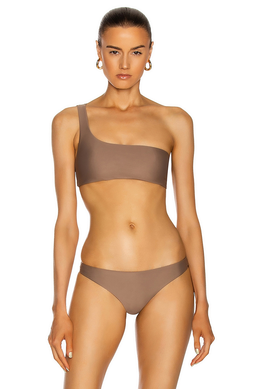 Image 1 of JADE SWIM Apex One Shoulder Bikini Top in Nude