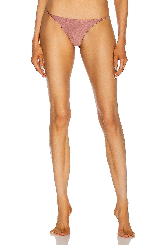 Image 1 of JADE SWIM Bare Minimum Bikini Bottom in Mauve Sheen