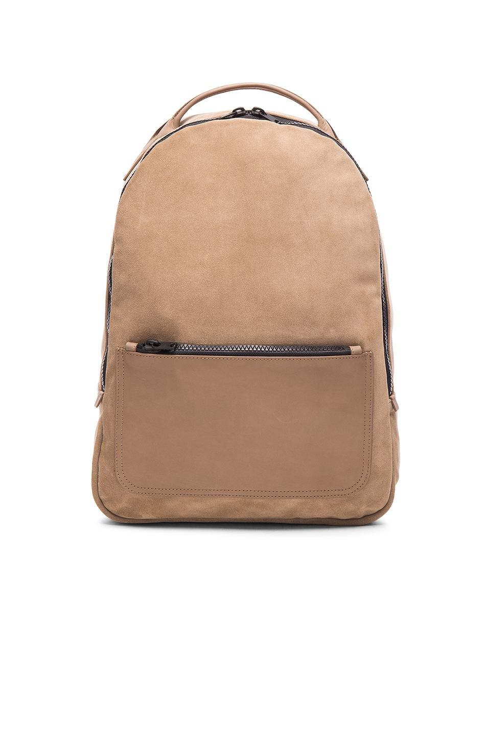 Image 1 of Kanye West x Adidas Originals Leather Backpack in Khaki