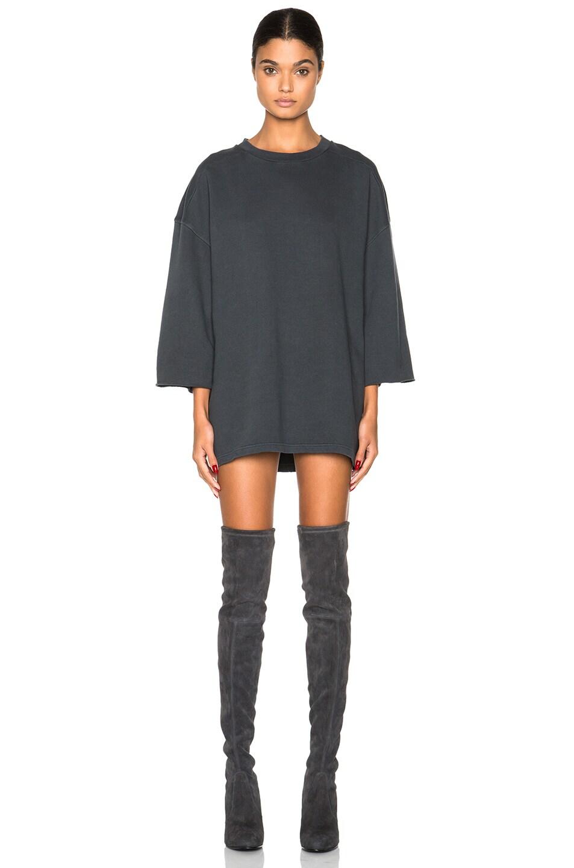 Image 1 of Kanye West x Adidas Originals Short Sleeve Sweatshirt in Caviar