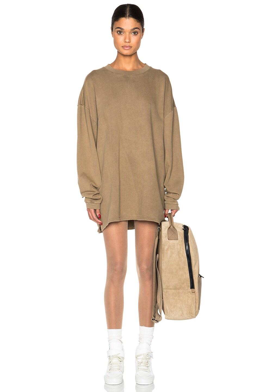Image 1 of Kanye West x Adidas Originals Long Sleeve Sweatshirt in Fossil