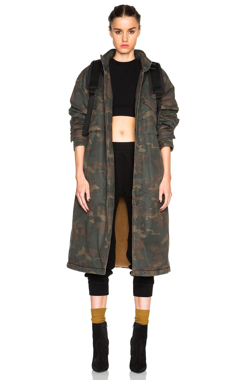 Image 1 of Kanye West x Adidas Originals Trenchcoat in Camo