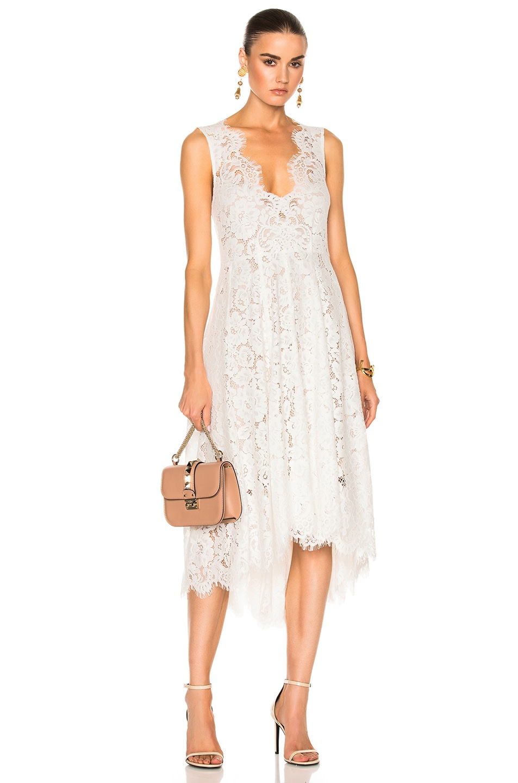 Image 1 of Kate Sylvester Chyrstal Full Dress in White Lace