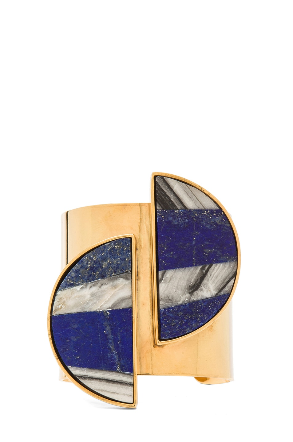 Image 1 of Kelly Wearstler Marco Cuff in Gold & Lapis