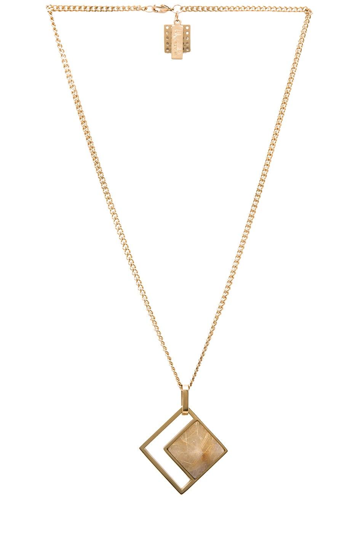 Image 1 of Kelly Wearstler Hudson Plated Pendant in Gold & Rutilated Quartz