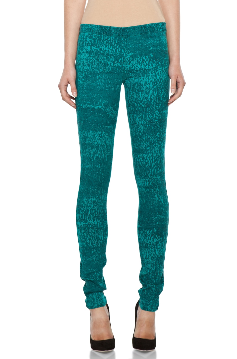 Image 1 of Kelly Wearstler Printed Stretch Jagger Pant in Malachite