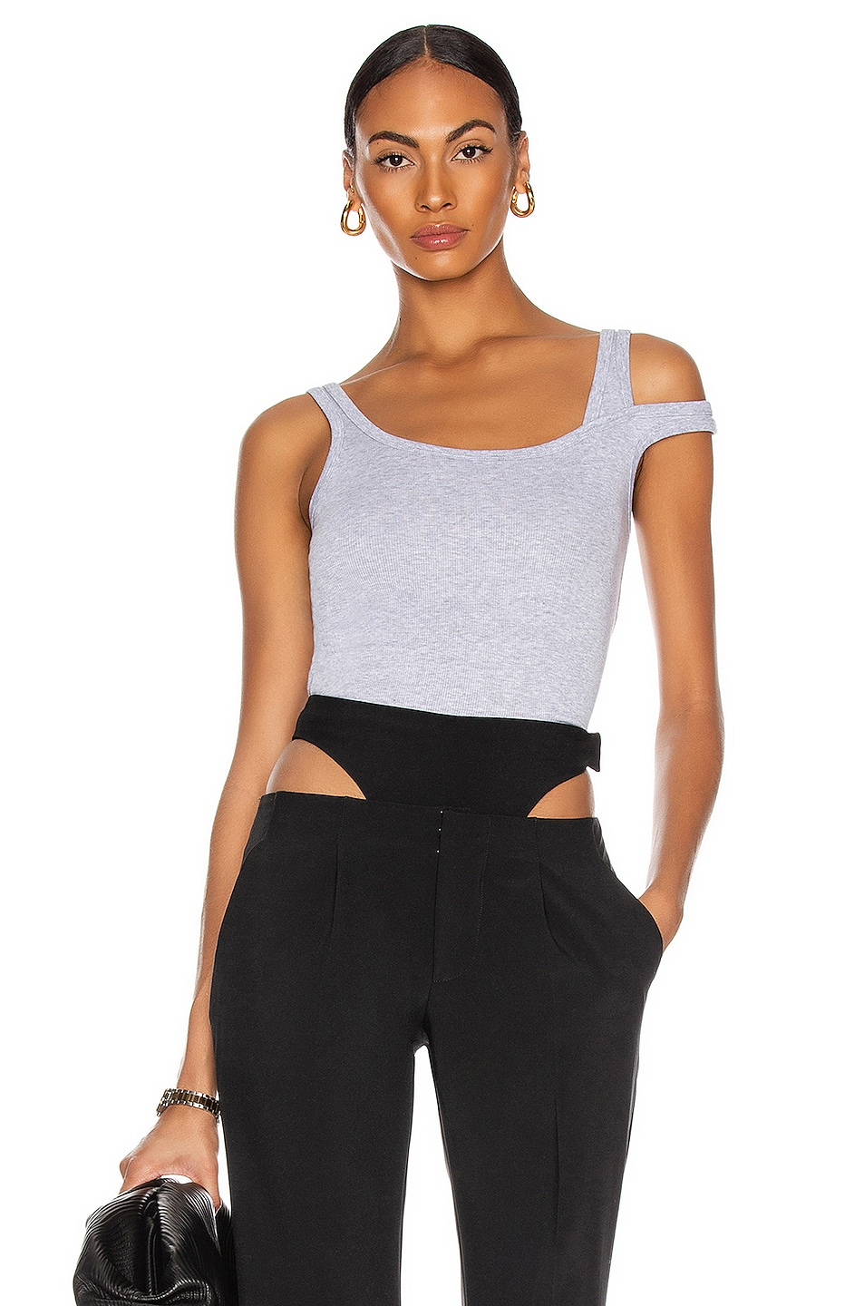 Image 1 of KENDRA DUPLANTIER Lucia Top in Heather Grey
