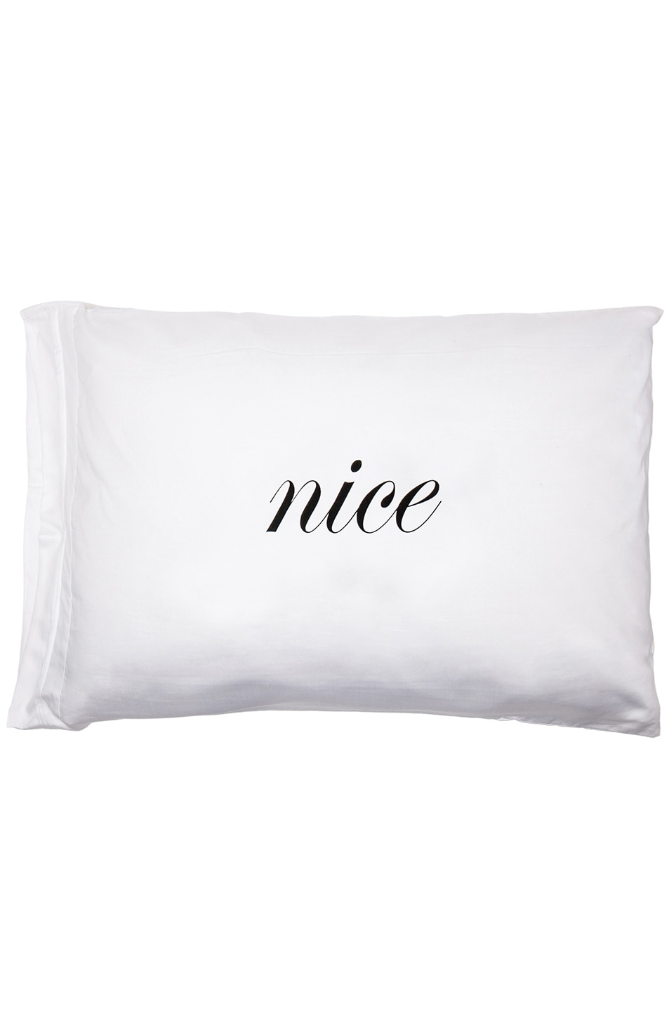 Image 1 of Kiki de Montparnasse Naughty & Nice Standard Pillowcase Set in White