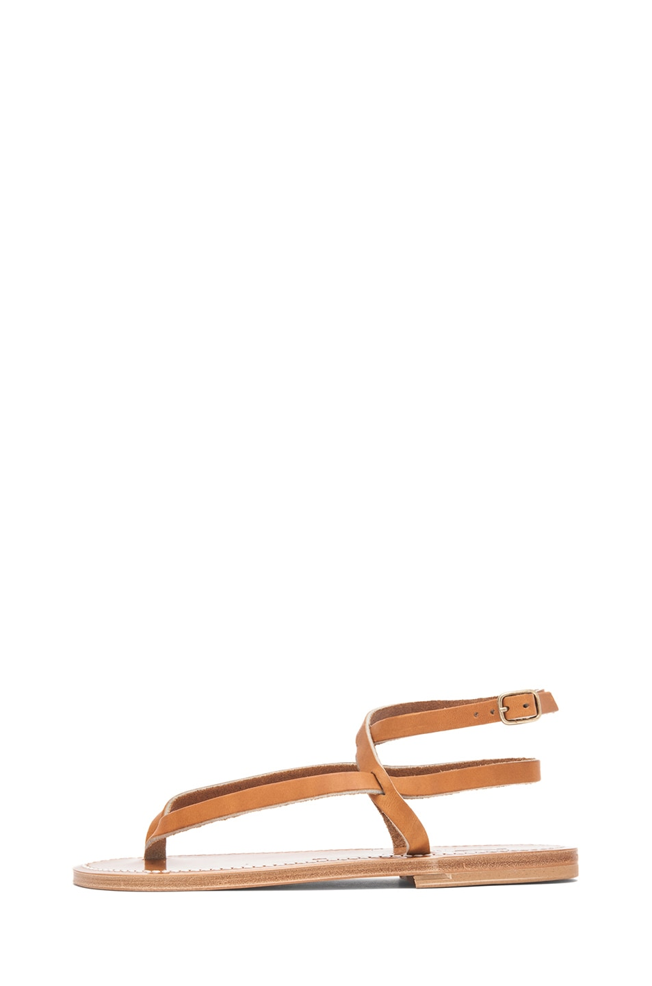 Image 1 of K Jacques Delta Ankle Strap Sandals in Natural