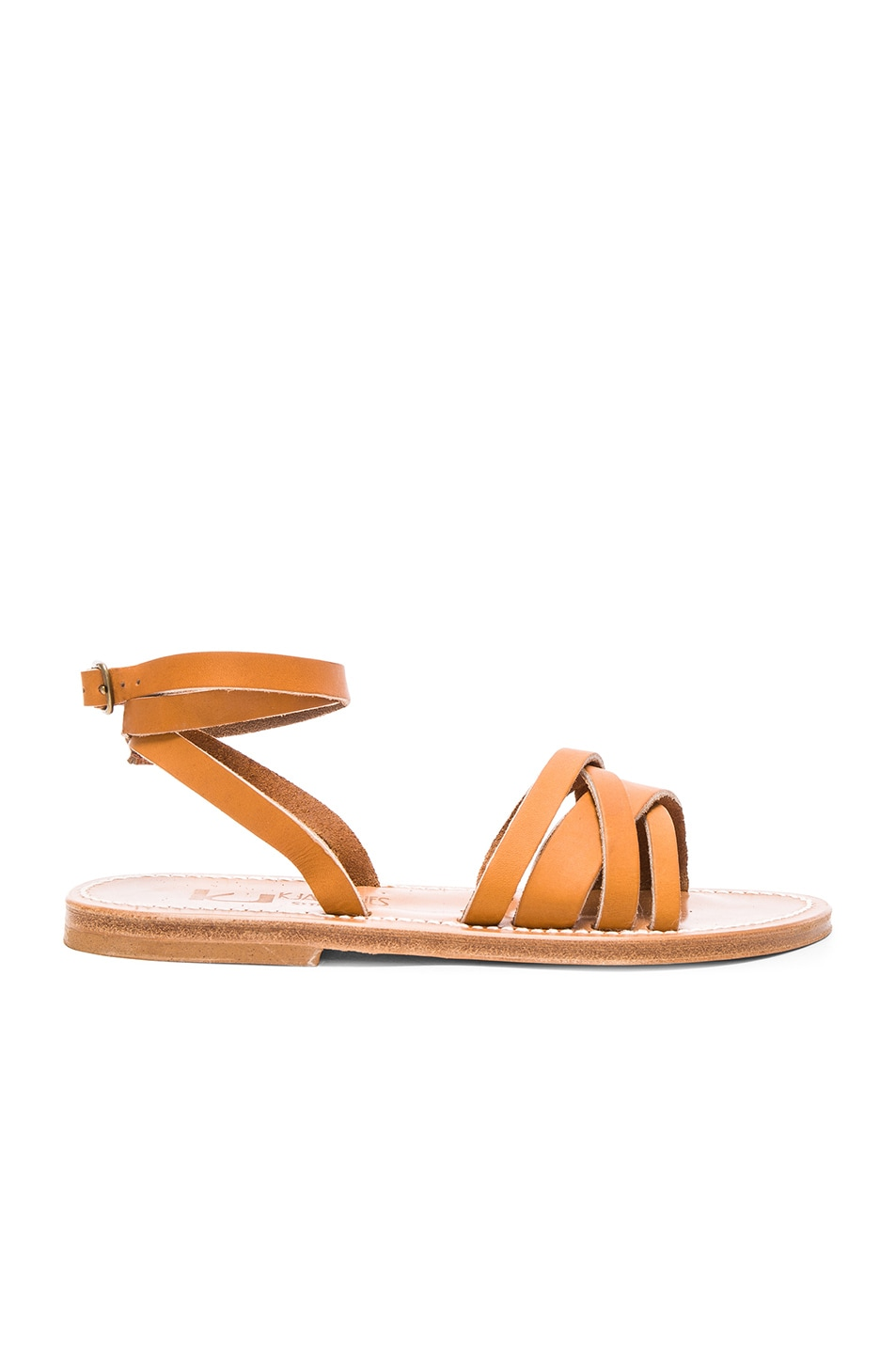 Image 1 of K Jacques Leather Galapagos Sandals in Natural