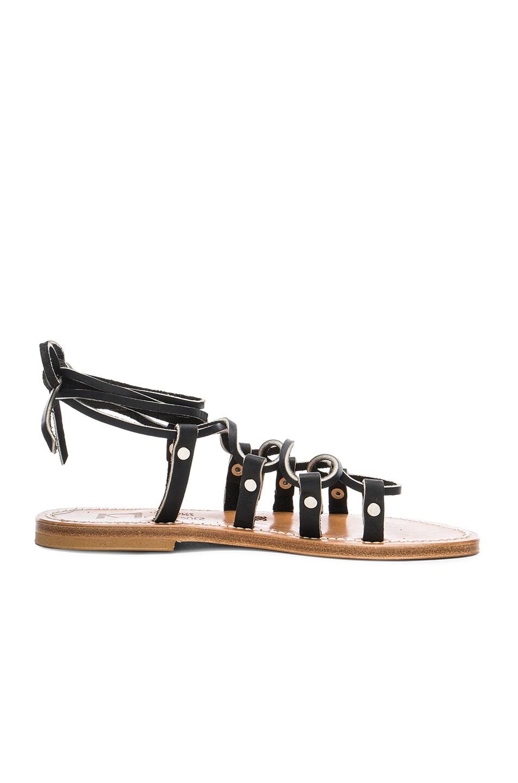 Image 1 of K Jacques Leather Chauvet Sandals in Pul Noir