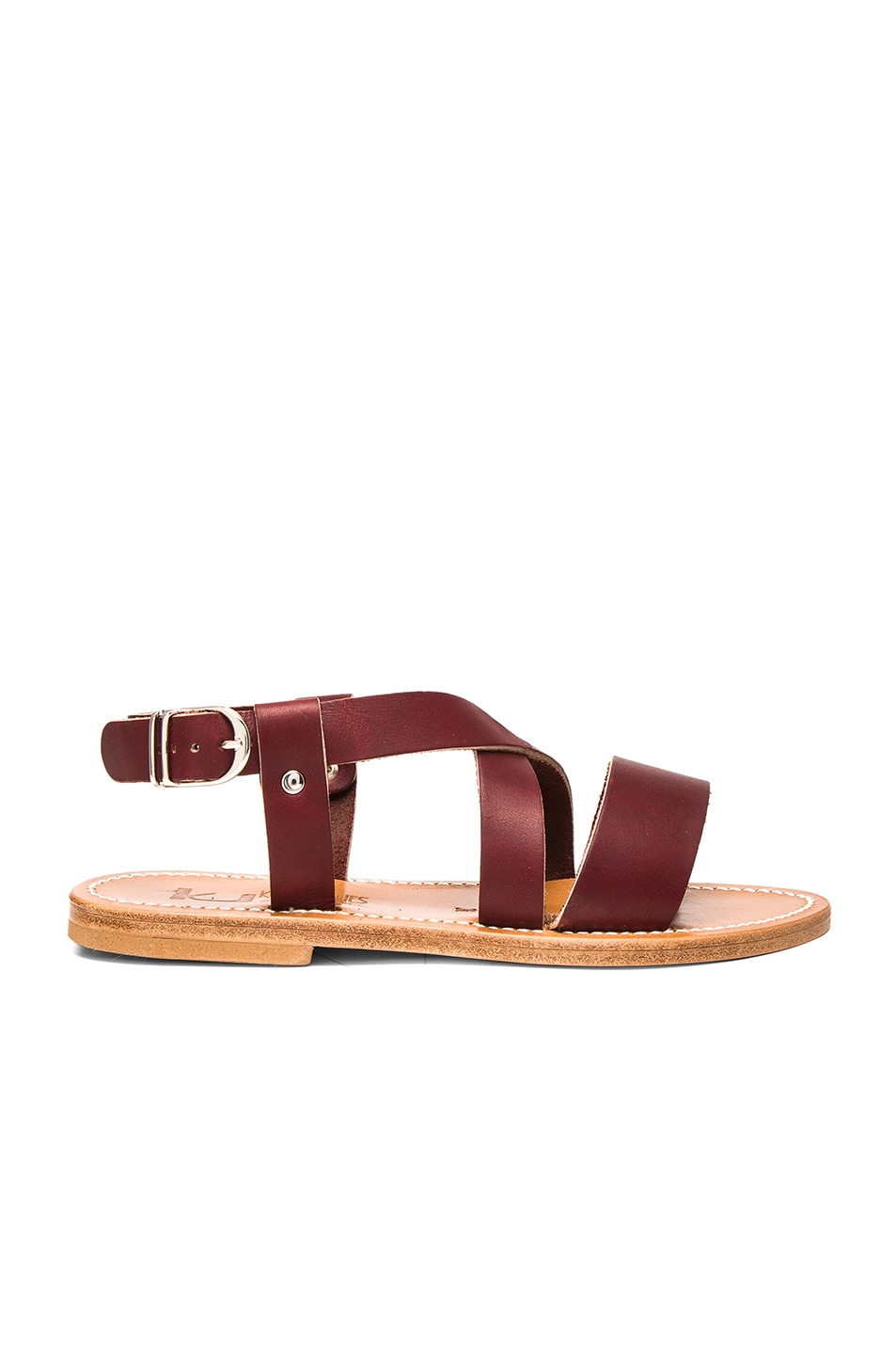 Image 1 of K Jacques Leather Corentin Sandals in Pul Bordo