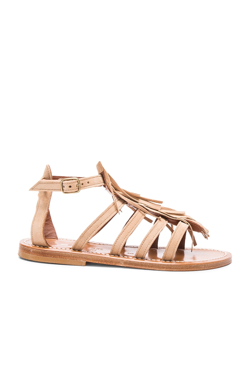 Image 1 of K Jacques Suede Fregate Sandals in Velours Sultan