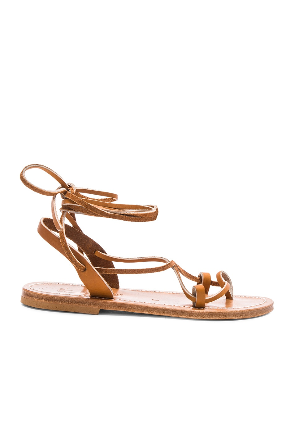 Image 1 of K Jacques Leather Lucile Sandals in Pul Natural