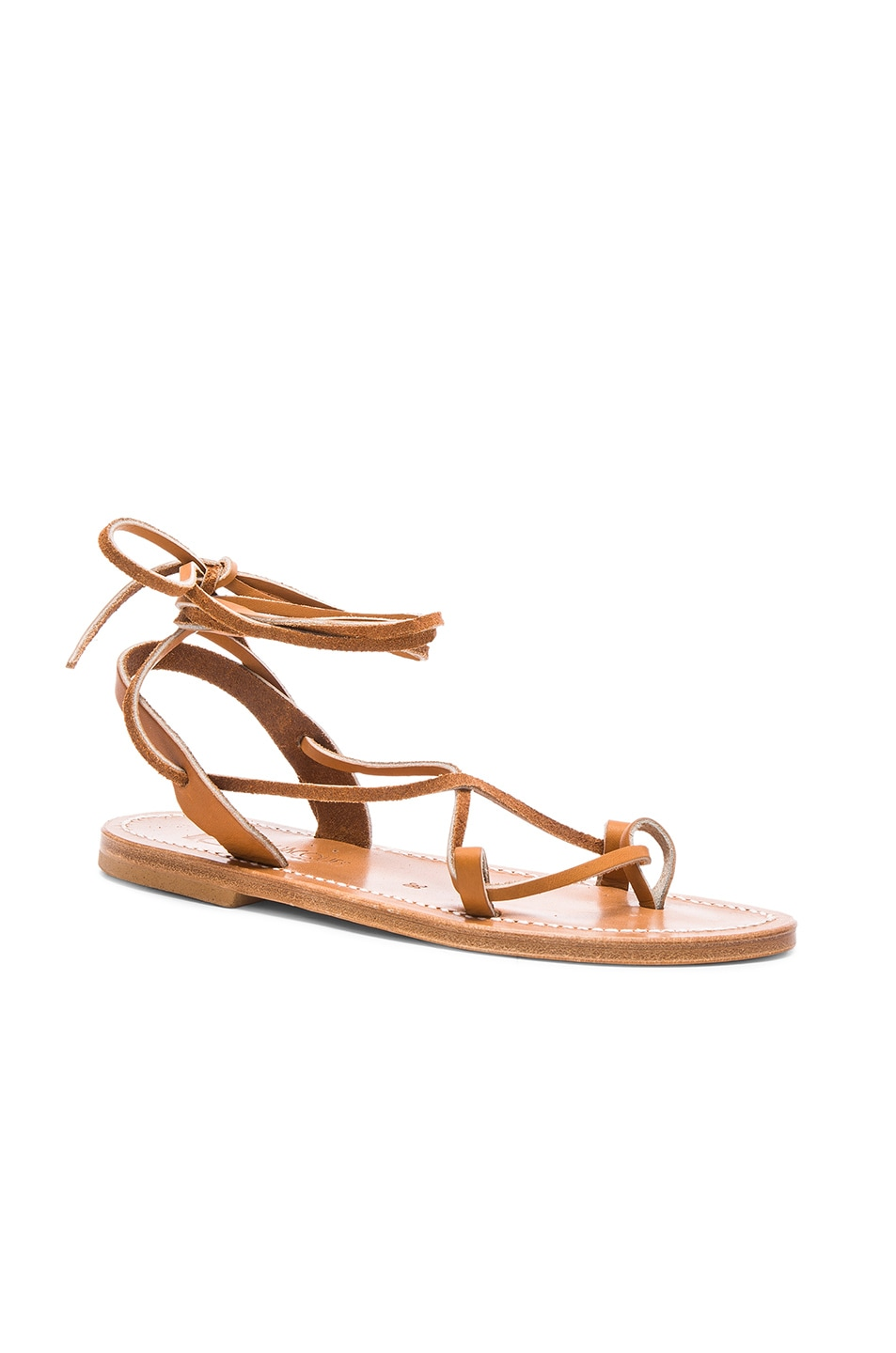 Image 2 of K Jacques Leather Lucile Sandals in Pul Natural